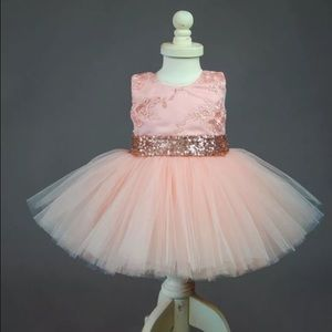 Girls Sparkly Elegant Party Dress